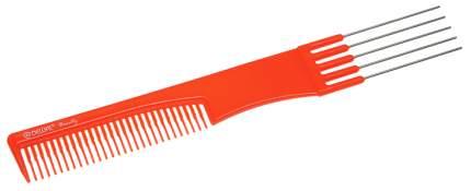 Расческа Dewal Beauty для начеса с металлическими зубцами, оранжевая, 19 см