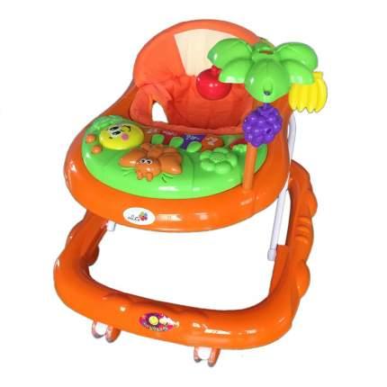 """Ходунки """"Пальма"""", 7 силиконовых колес, муз., игрушки"""