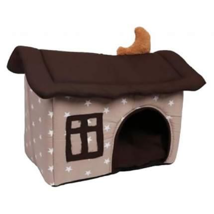 Домик для кошек и собак Lion Домик, бежевый, коричневый, 45x32x39см