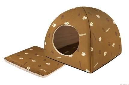 Домик для кошек и собак Дарэлл Юрта, коричневый, 36x36x35см