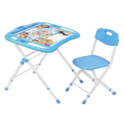 Набор мебели Nika Kids Азбука в кругу друзей, стол + стул, от 3 до 14 лет