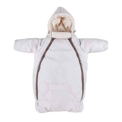MAMMIE Конверт для новорожденного с рукавами Кремовый экозамша Осень Зима