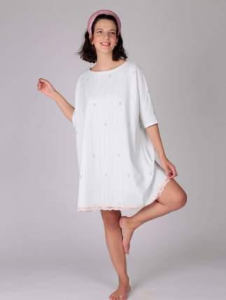 Домашнее платье женское HayS 30632-B111 белое 50-56