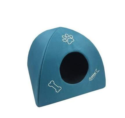 Домик для кошек и собак PerseiLine Люминарр Светящийся в темноте, синий, белый, 40x40x40см