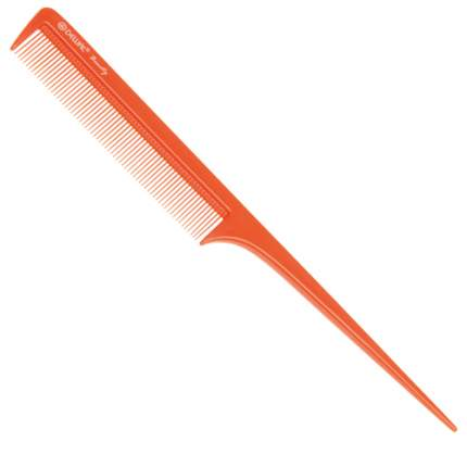 Расческа Dewal Beauty с пластиковым хвостиком, оранжевая, 20,5 см