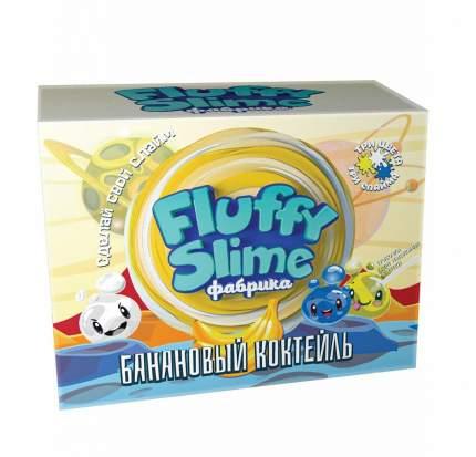 Флаффи слайм-фабрика Банановый коктейль 3 слайма 3 цвета