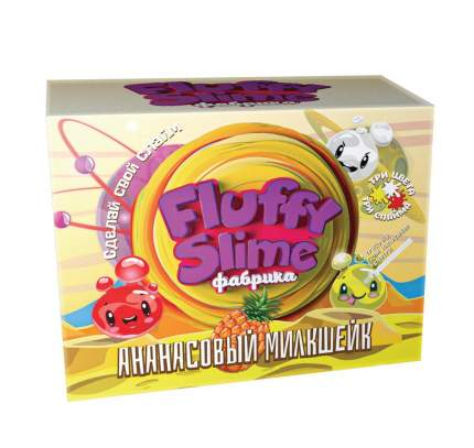 Флаффи слайм-фабрика Ананасовый милкшейк 3 слайма 3 цвета