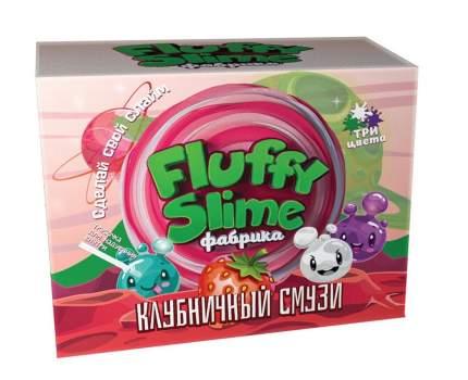 Флаффи слайм-фабрика Клубничный смузи 3 слайма 3 цвета