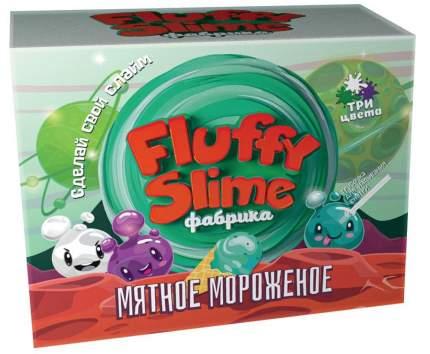 Флаффи слайм-фабрика Мятное мороженое 3 слайма 3 цвета
