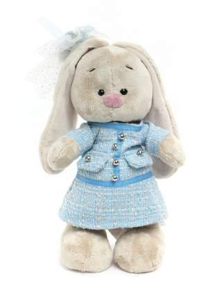 Мягкая игрушка BUDI BASA Зайка Ми в голубом платье в клетку малый
