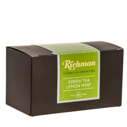 Чай Richman С мятой, мелиссой и лимоном, зеленый 25 пакетиков по 1,5 гр