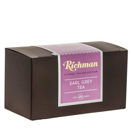 """Чай Richman """"Earl Grey"""", черный листовой, с добавками, 25 пакетиков по 2 гр"""