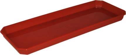 Поддон для балконного ящика INGREEN 40 см (370х140х24 мм) терракотовый