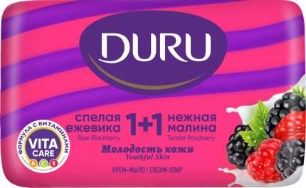 """Крем-мыло Duru """"1+1. Малина-Ежевика"""", 80 г"""
