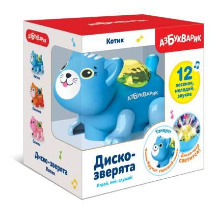 Диско-зверята Азбукварик Котик Темно-голубой