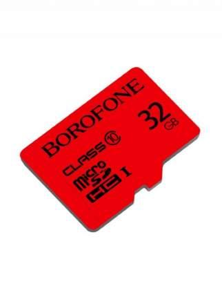 Карта памяти Borofone 32GB microSD Card Class 10 Red