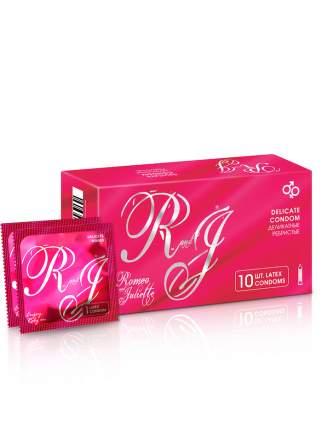 Презервативы R and J Delicate. Ребристые, 10 шт. натуральный латекс