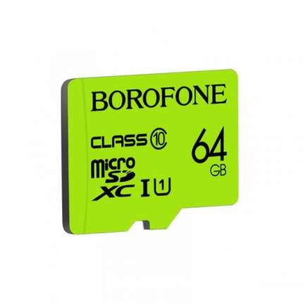 Карта памяти Borofone 64GB microSD Card Class 10 Green