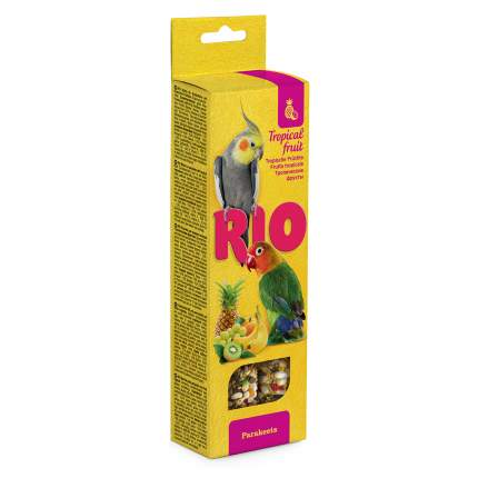 Лакомство для птиц палочки RIO для средних попугаев с тропическими фруктами 2х75г