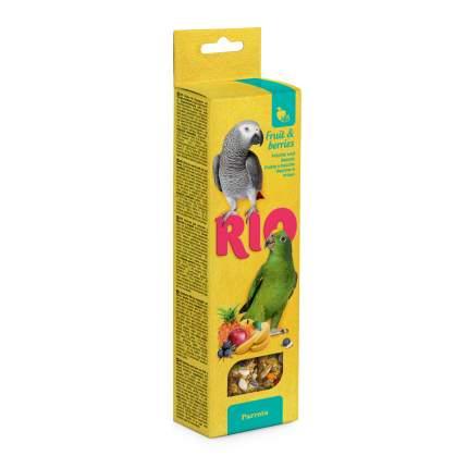 Лакомство для птиц RIO Палочки для попугаев с фруктами и ягодами 2 х 90 гр., 0,18 кг