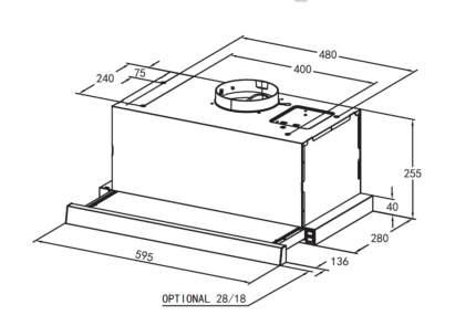 Вытяжка кухонная Midea MH60P450GW