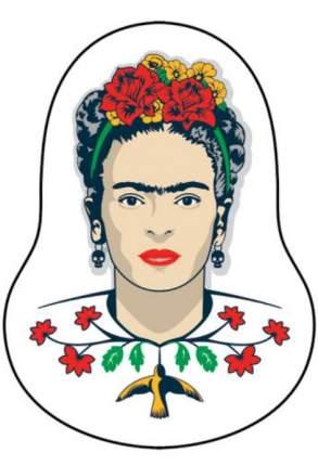 Деревянный значок. Фрида Кало