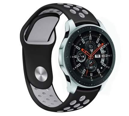 Ремешок Nuobi Sport ver.1 для Xiaomi, Huawei, Samsung, Garmin 22 мм Black/Grey