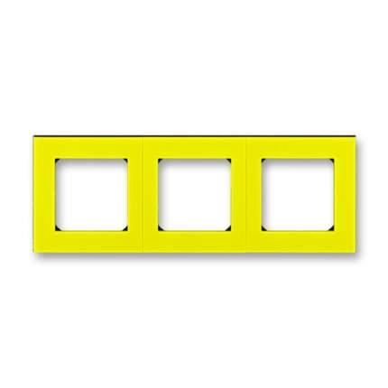 Рамка ABB EPJ Levit 3 поста жёлтый