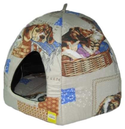 Домик для кошек Usond Вигвам №3 (бязь), коричневый, 63x56x56см