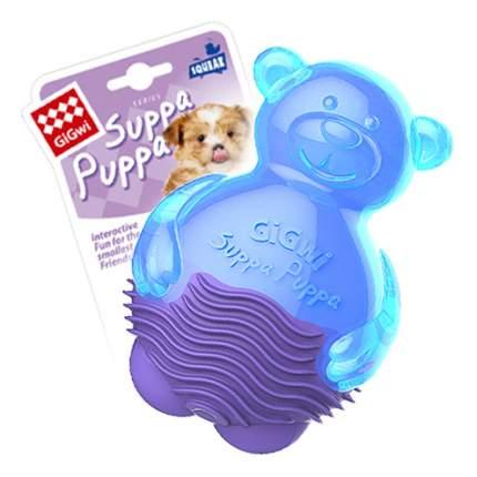 Жевательная игрушка для собак GiGwi Мишка с пищалкой, длина 9 см