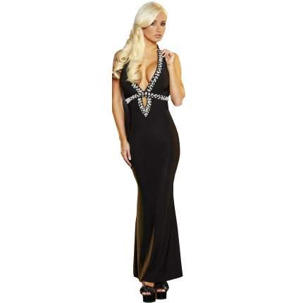 Вечернее черное платье в пол от Hustler M/L