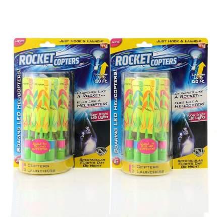 Светодиодные ракеты Shantou Yisheng Rocket Copters, 6 шт.