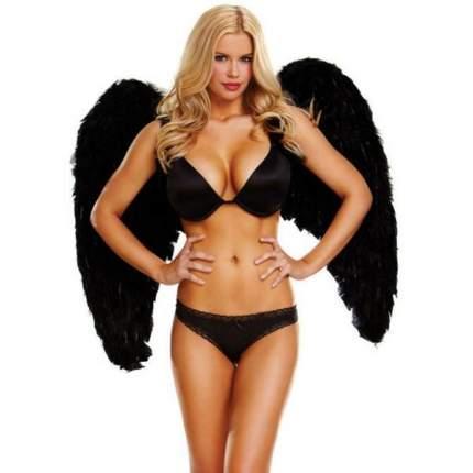Большие крылья из натуральных перьев DARK DELIGHT черный