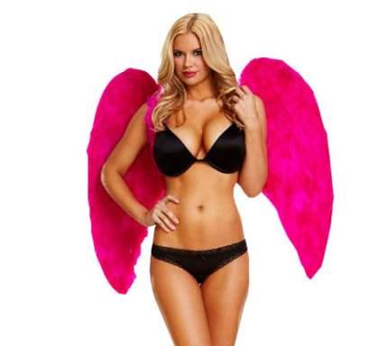 Большие крылья из натуральных перьев DARK DELIGHT розовый