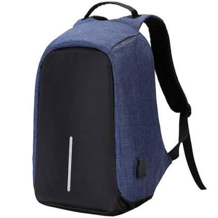 """Рюкзак унисекс Baziator антивор для ноутбука до 15"""" с USB синий синий"""