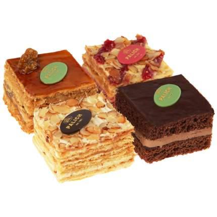 Набор мини-тортов У Палыча малиновый, прага, наполеон, медовый 480 г