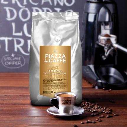 Кофе в зернах Piazza del Caffe Crema Vellutata 1 кг