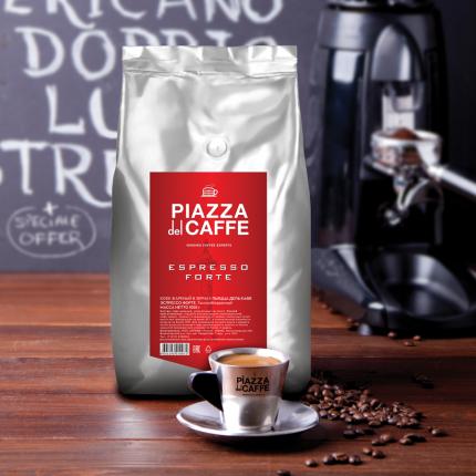 Кофе в зернах Piazza del Caffe Espresso Forte 1 кг