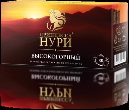 Чай черный Принцесса Нури Высокогорный 30 пакетиков без ярлыка