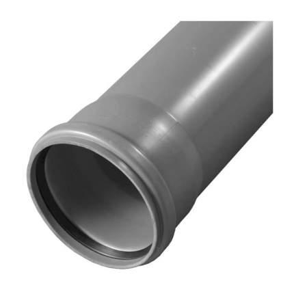 Труба PP-H с раструбом серая BASE Дн 50х1,8 б/нап L=2,0м в/к VALFEX 200500200