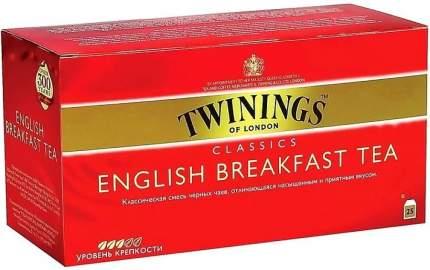 Чай Twinings черный английский для завтрака 25*2 г