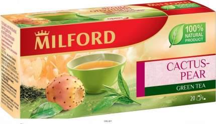 Чай Milford ягода опунции зеленый байховый ароматизированный 20*1.75 г