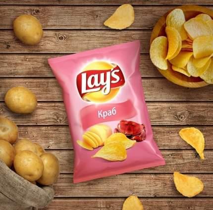 Чипсы Lay's из натурального картофеля краб 90 г