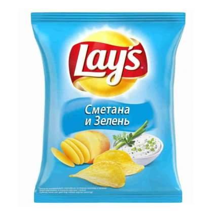 Чипсы Lay's из натурального картофеля сметана, зелень 50 г