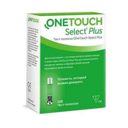 Тест-полоски OneTouch Select Plus 100 шт.