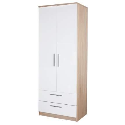 Шкаф с ящиками Шарм-Дизайн Соло 80х60 Дуб Сонома и Белый