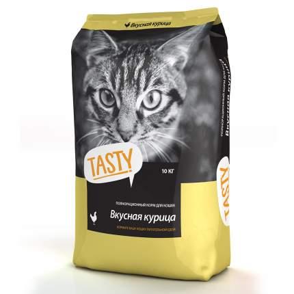 Сухой корм для кошек TASTY, вкусная курица, 10кг