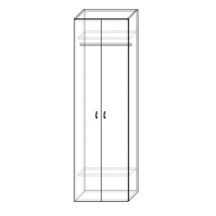 Шкаф для одежды Шарм-Дизайн Шарм 70х60 Белый и Дуб Сонома