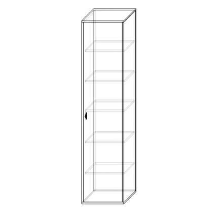 Шкаф пенал Шарм-Дизайн Шарм 40х45 Белый и Дуб Сонома