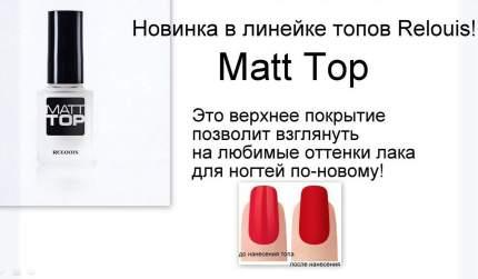 Верхнее покрытие лака для ногтей RELOUIS Matt Top матовое